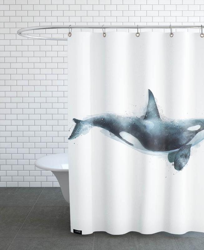 Orca As Shower Curtain By Amy Hamilton