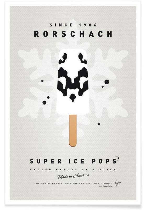 my superhero ice pop rorschach as premium poster juniqe