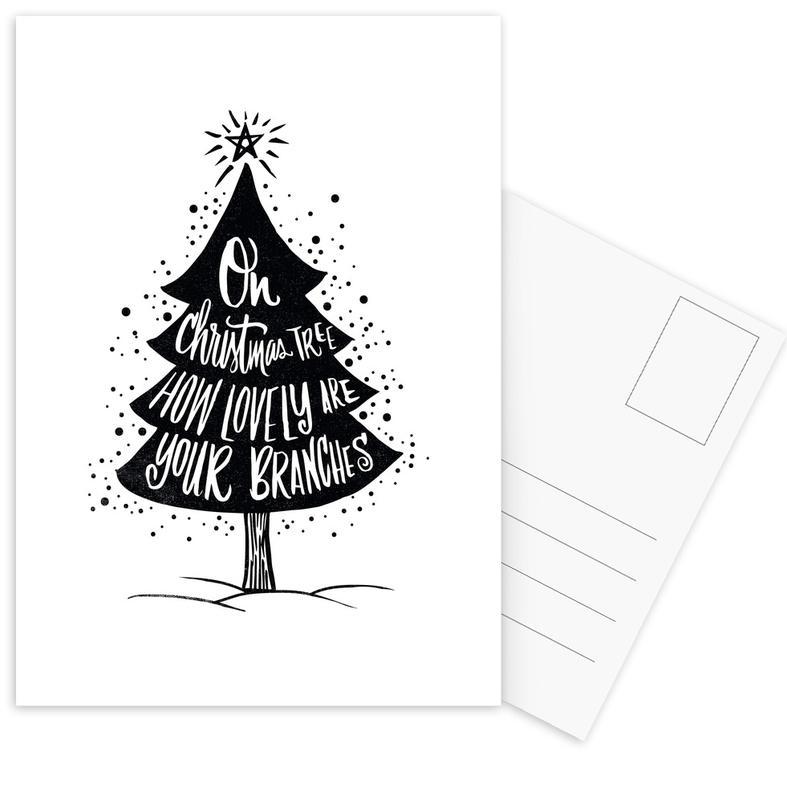 Oh Christmas Tree.Oh Christmas Tree Postcard Set Juniqe