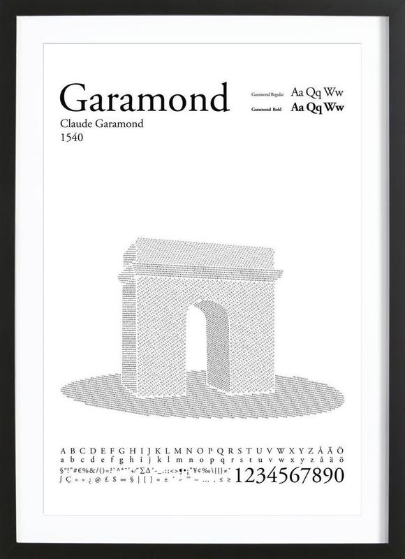 Garamond as Poster in Wooden Frame by Per Nilsson   JUNIQE UK
