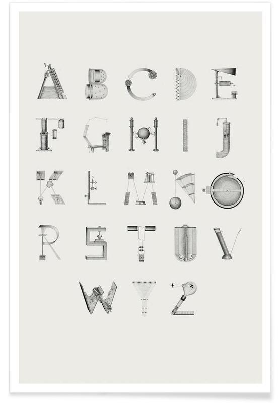 Science Letters Poster Juniqe
