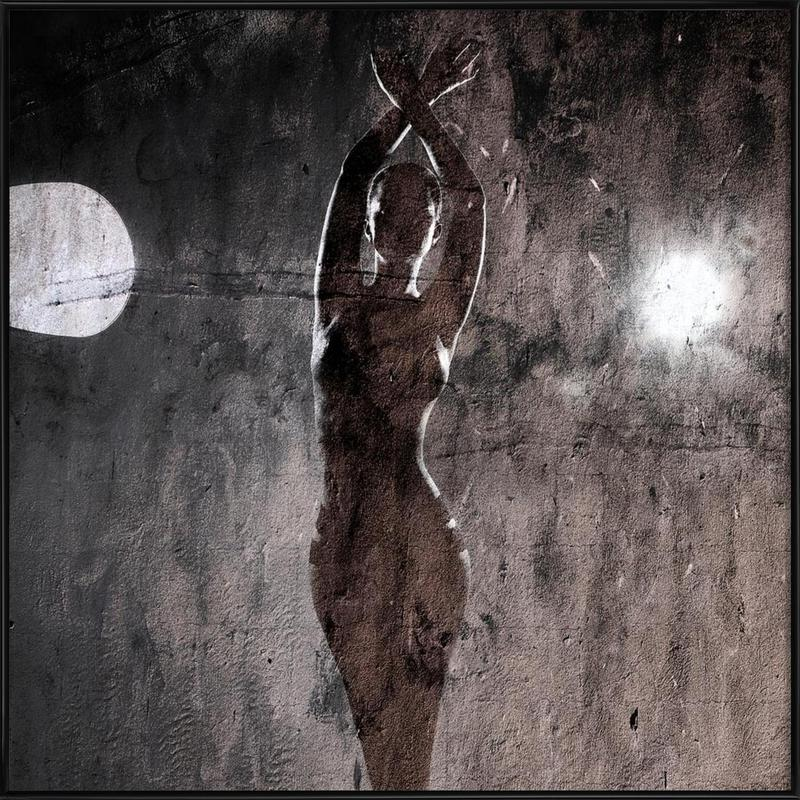 fullmoon as poster in standard frame by linnea frank juniqe