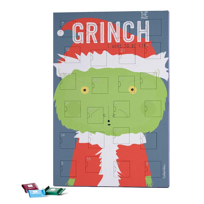 Chocolate Advent Calendar 2019.Little Grinch 2018 Chocolate Advent Calendar Ritter Sport Juniqe Uk