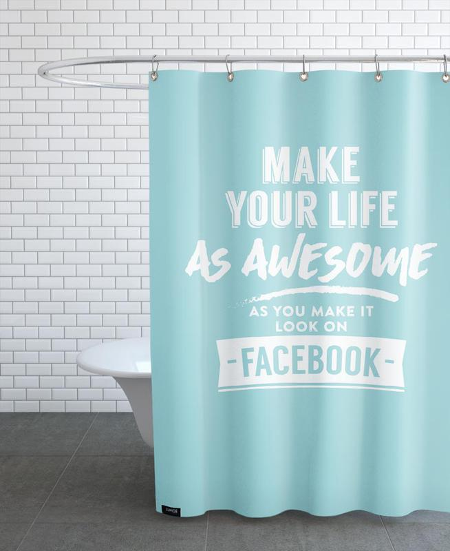 Facebook Life As Shower Curtain By LeDieg