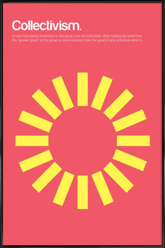 Collectivism Poster In Standard Frame Juniqe Uk