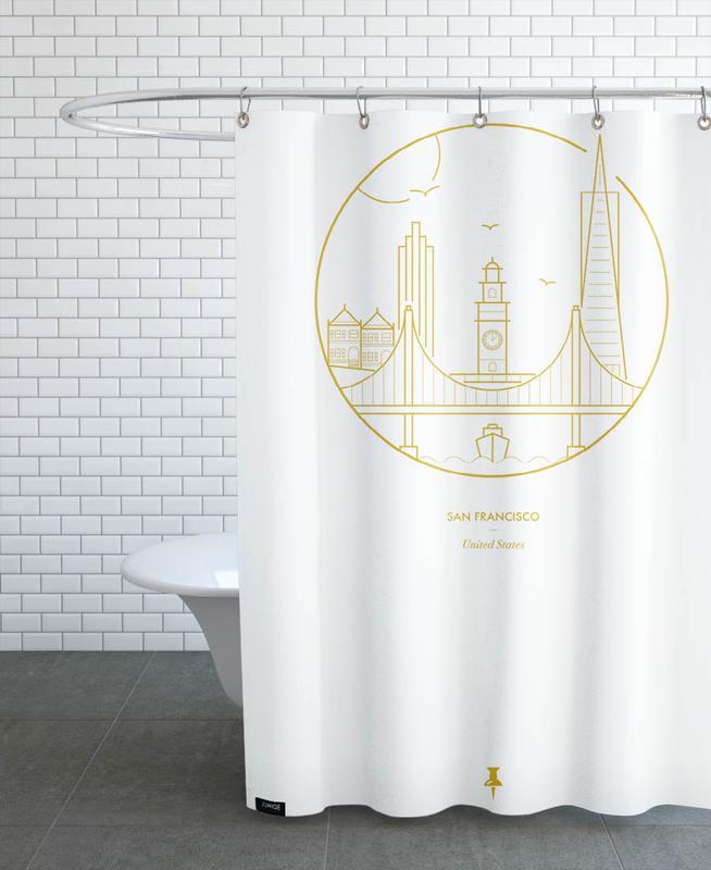 San Francisco As Shower Curtain By Dean Robert Smith