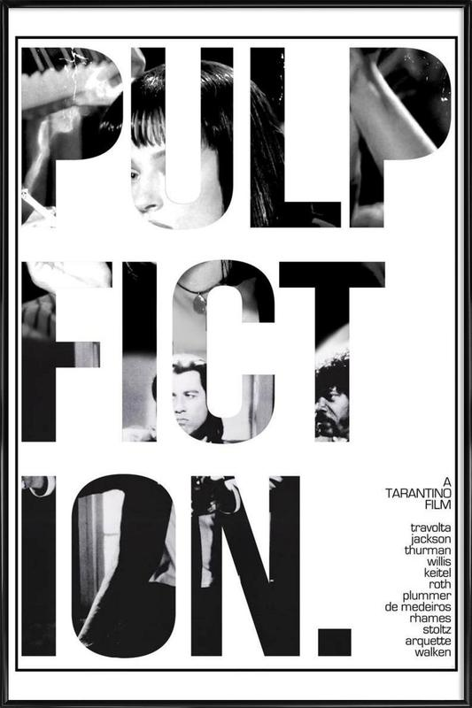 Pulp Fiction as Poster in Standard Frame by MD POSTERS   JUNIQE UK