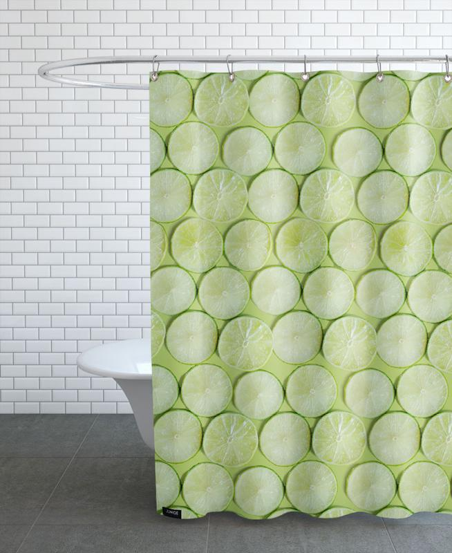 Lime As Shower Curtain By Elena Veronese