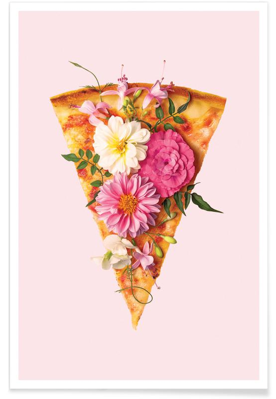 Floral Pizza Poster Juniqe