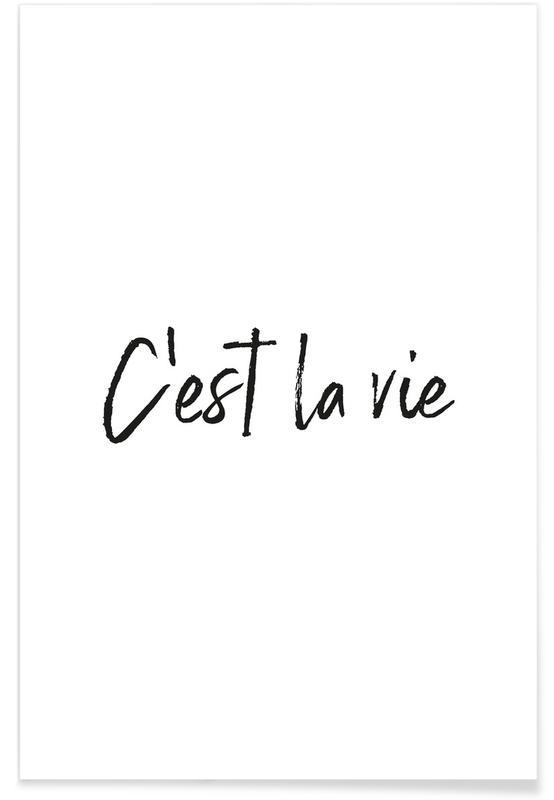 C Est La Vie Poster Juniqe Uk