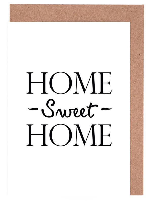 cfcbfc4002ab Home Sweet Home Greeting Card Set | JUNIQE