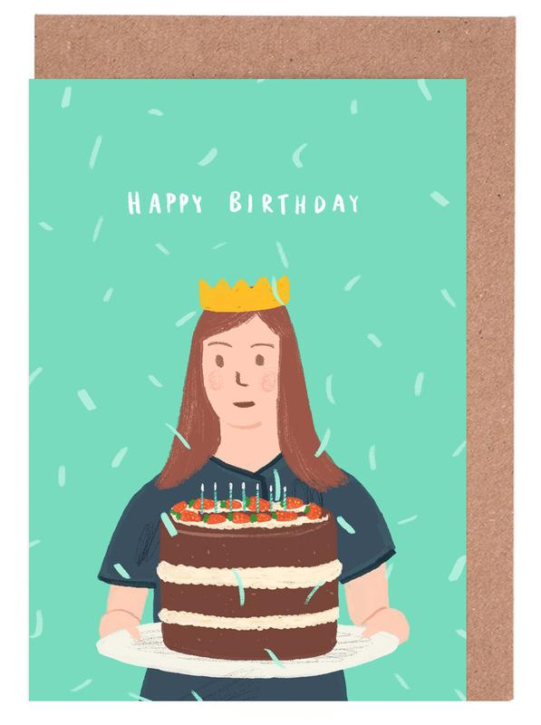 Happy Birthday Cake As Greeting Card Set By Alex Foster Juniqe