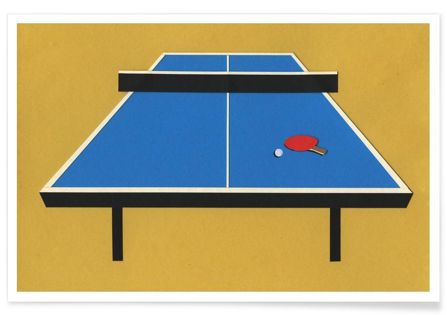 PosterJuniqe Pong Pong Ping Ping Table ZuiPkX