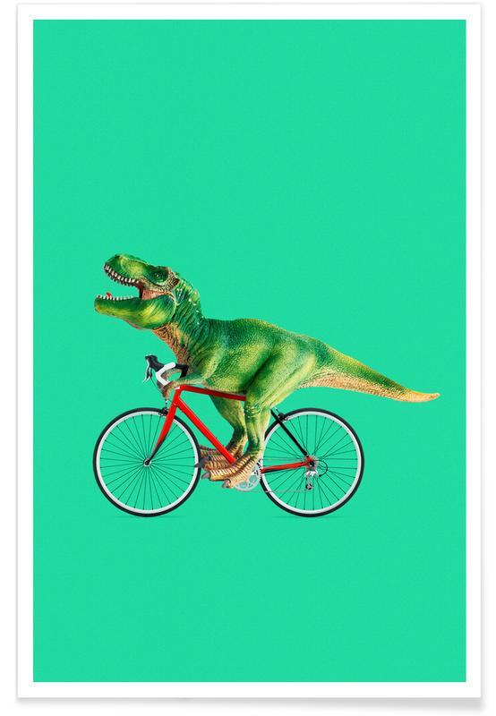 T Rex Bike Poster Juniqe