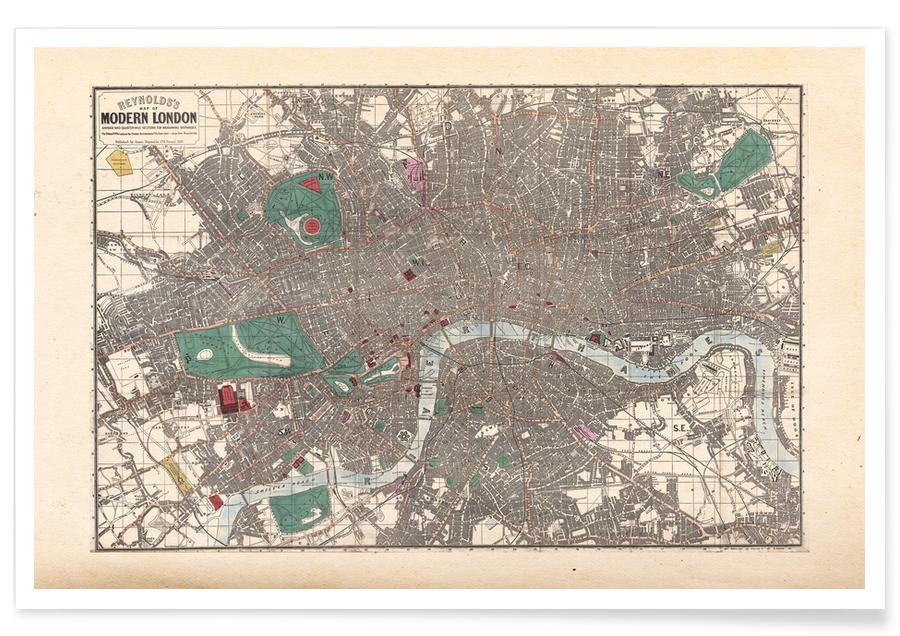 Map Of England Poster.Pocket Map Of London England Poster Juniqe Uk