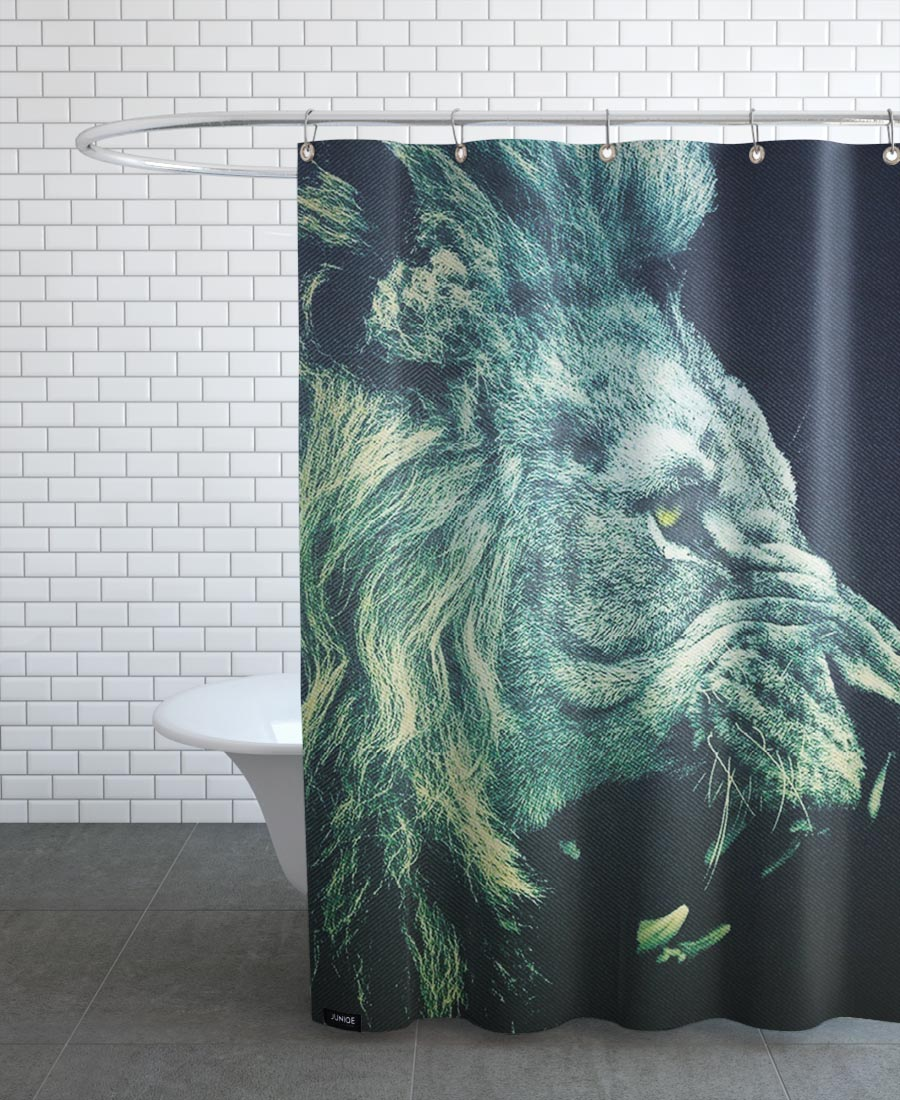 Lion As Shower Curtain By A Love Supreme