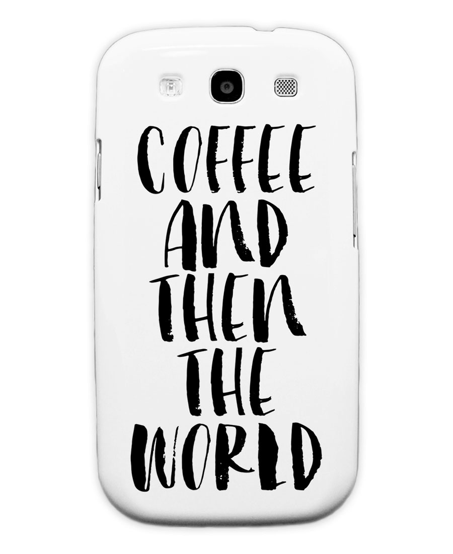 coffee and then the world als premium poster | juniqe, Hause ideen