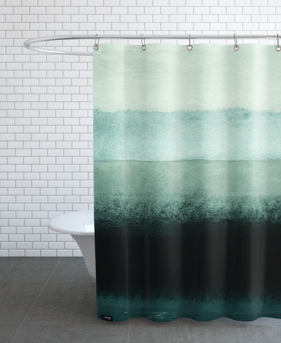 Shades Of Green As Shower Curtain By Iris Lehnhardt