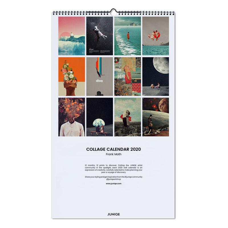 Poster Calendario 2020.Collage Calendar 2020 Frank Moth Wall Calendar Juniqe Uk