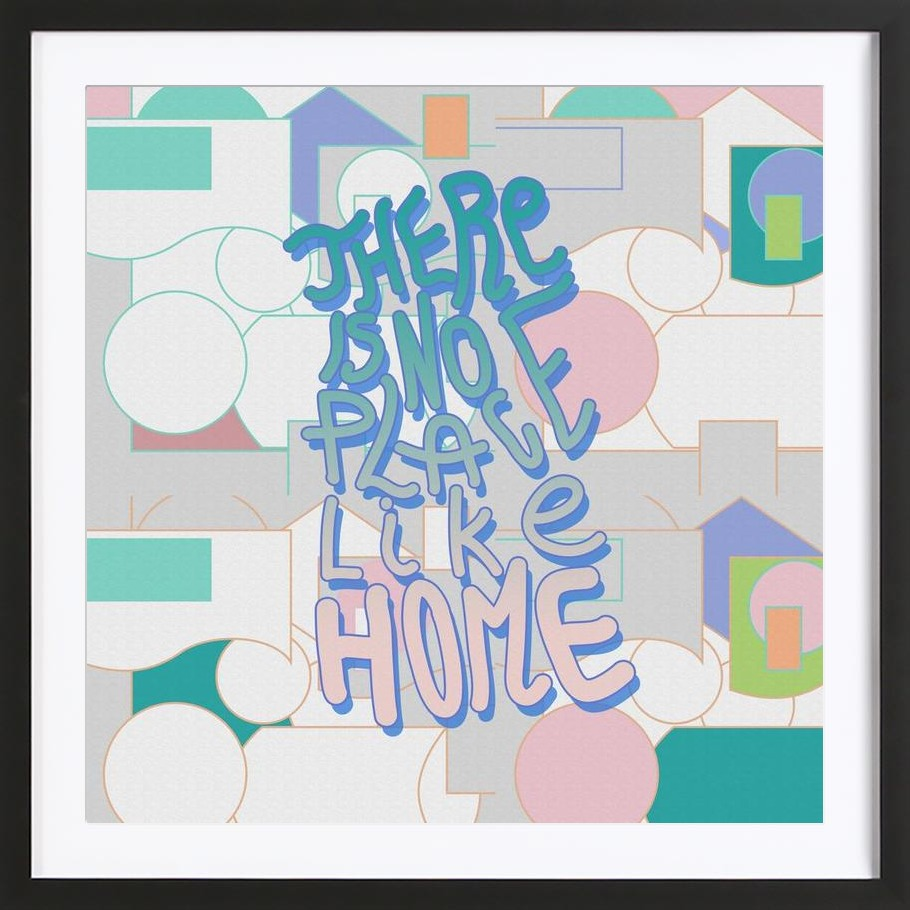 There Is No Place Like Home als Poster im Holzrahmen | JUNIQE