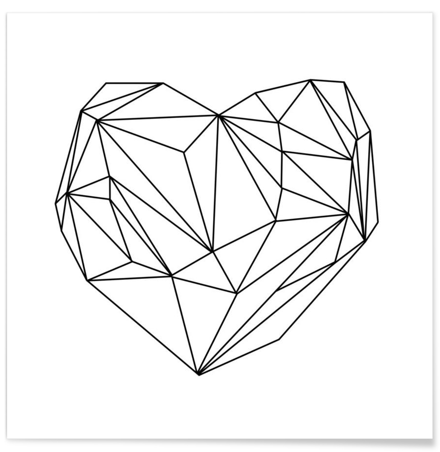 Heart Graphic - Premium Poster 1x1