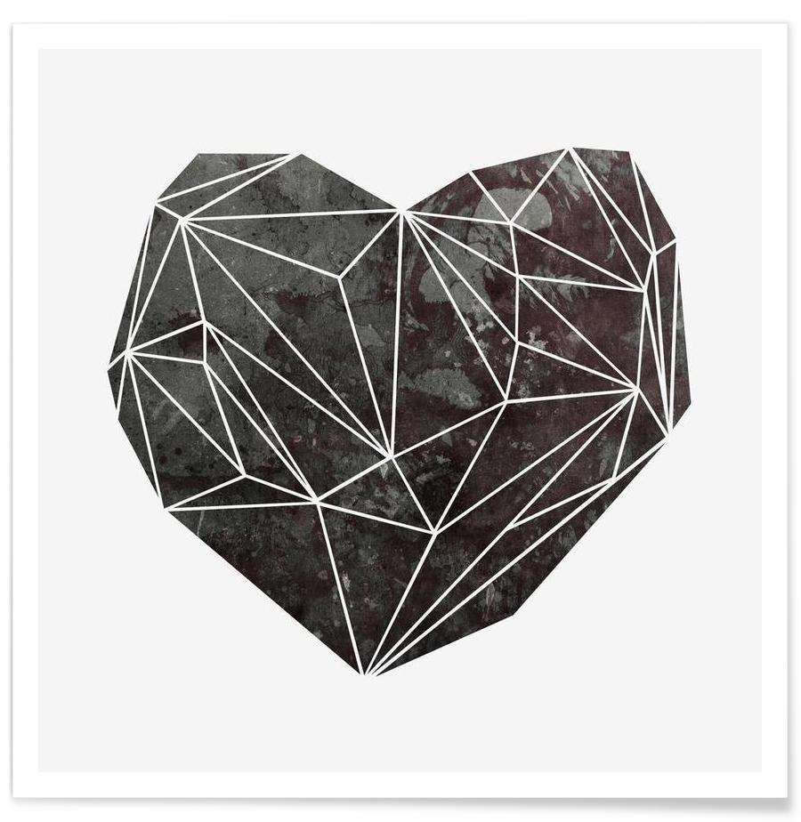 Heart Graphic 4 - Premium Poster 1x1