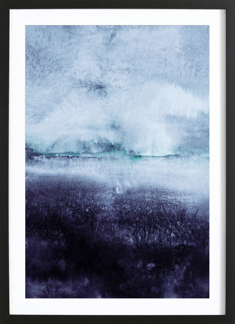 Brush strokes as poster in wooden frame by iris lehnhardt juniqe jeuxipadfo Images