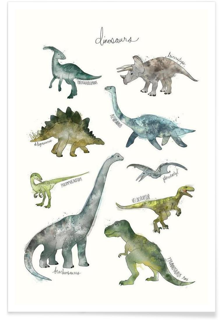 Dinosaurs As Premium Poster By Amy Hamilton Juniqe Uk Origami A List Of Online Origamidinosaur Diagrams