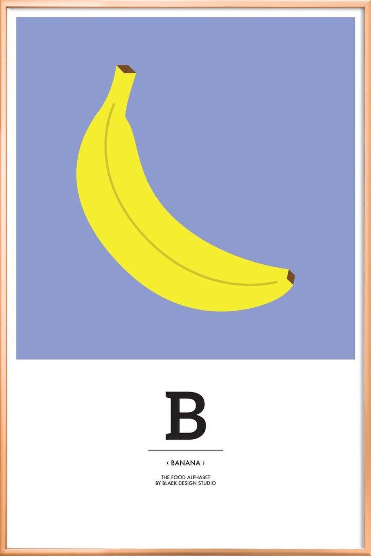 the food alphabet b like banana as greeting card set juniqe