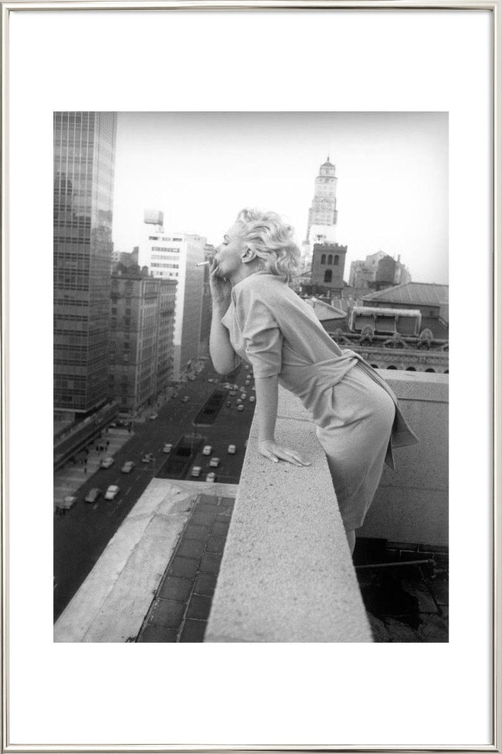 Marilyn Monroe in New York, 1955 als Premium Poster | JUNIQE