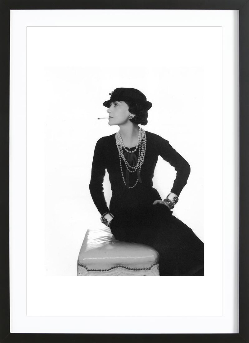 Coco chanel as greeting card set juniqe uk