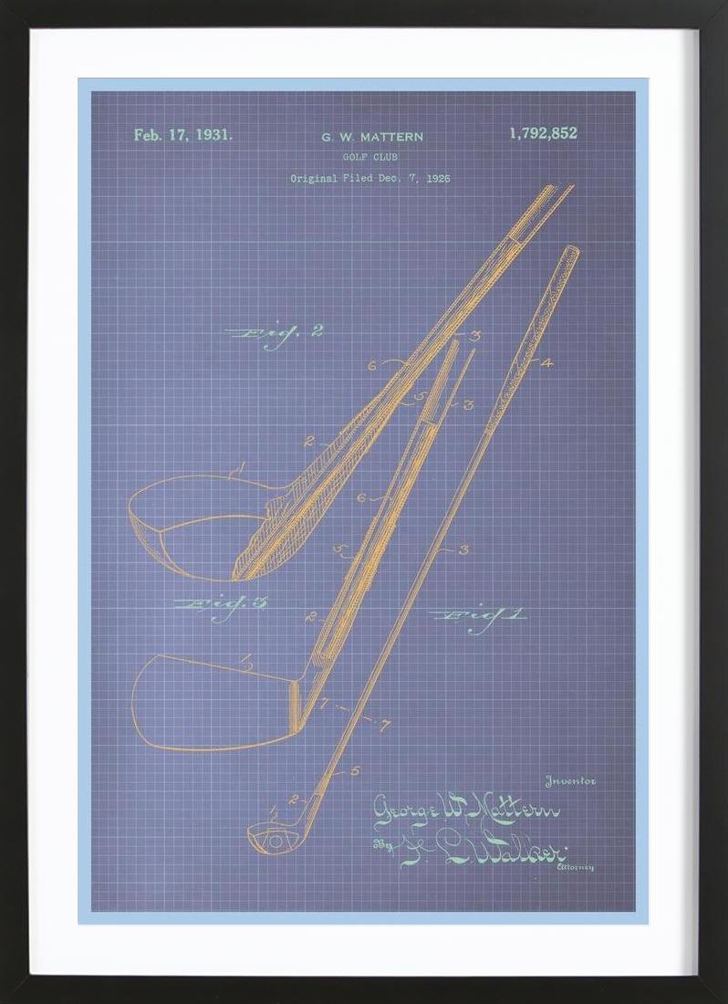 Golf Club als Poster im Holzrahmen von American Flat   JUNIQE