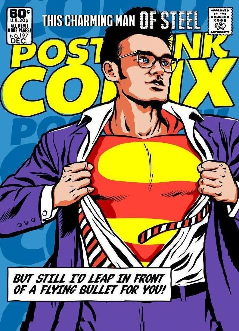 Postpunkix Super Moz  This Charming Man Of Steel As Premium Poster   Juniqe