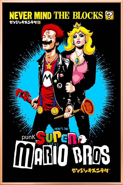 Punk Super Mario Bros - Never Mind the Blocks als Poster im ...
