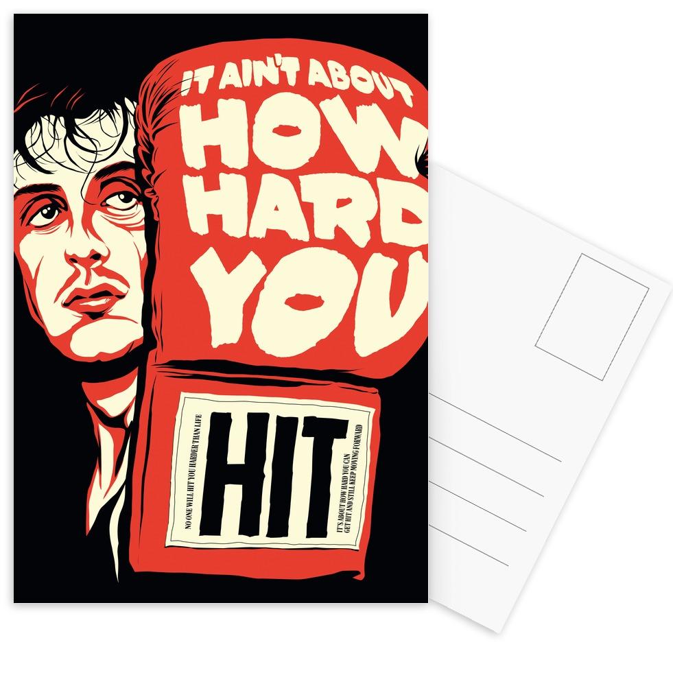 How Hard You Hit Als Postkartenset Von Butcher Billy Juniqe