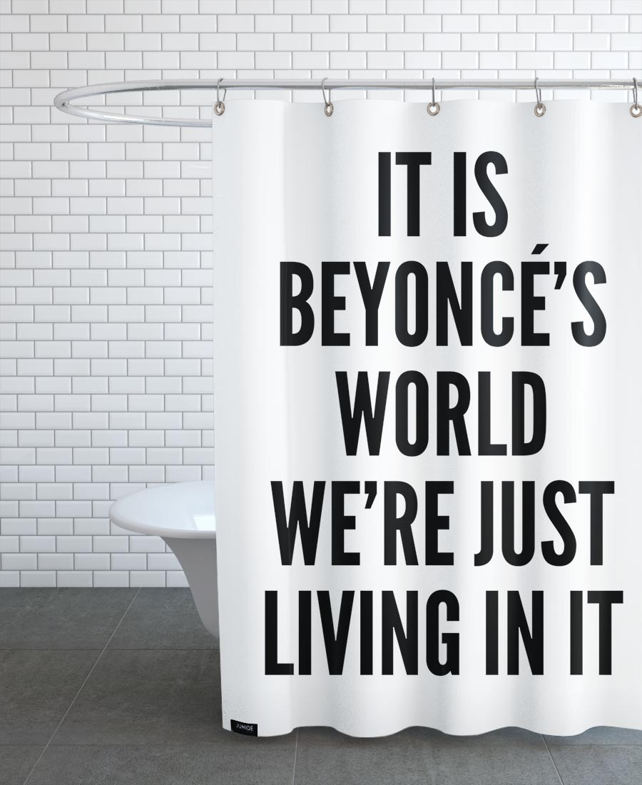Beyonces World As Shower Curtain By Mottos Sinan Saydik