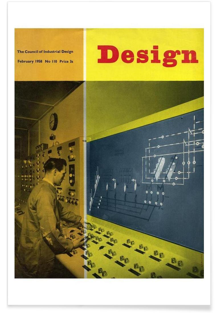 schneller kurs vintage interieur design, 1958 february design magazine as premium poster | juniqe, Design ideen