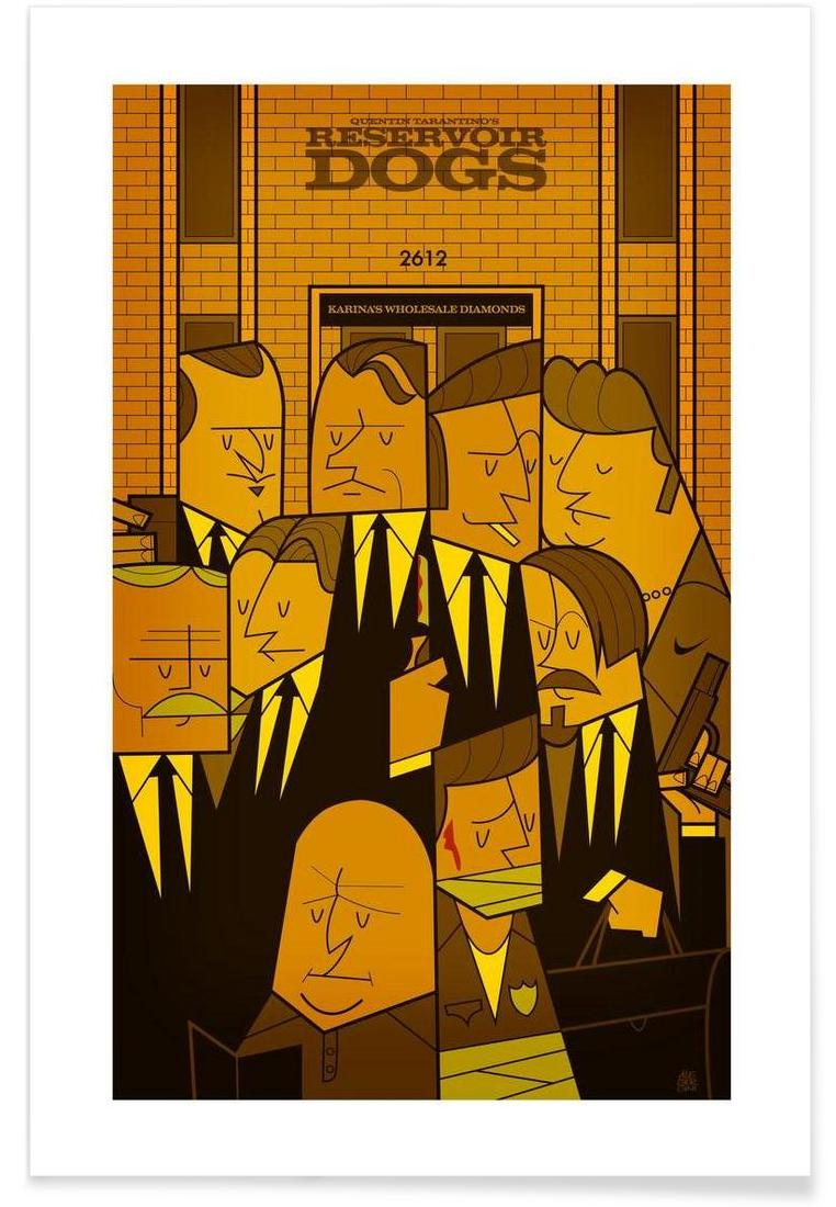 Reservoir dogs as Aluminium Print by Ale Giorgini | JUNIQE