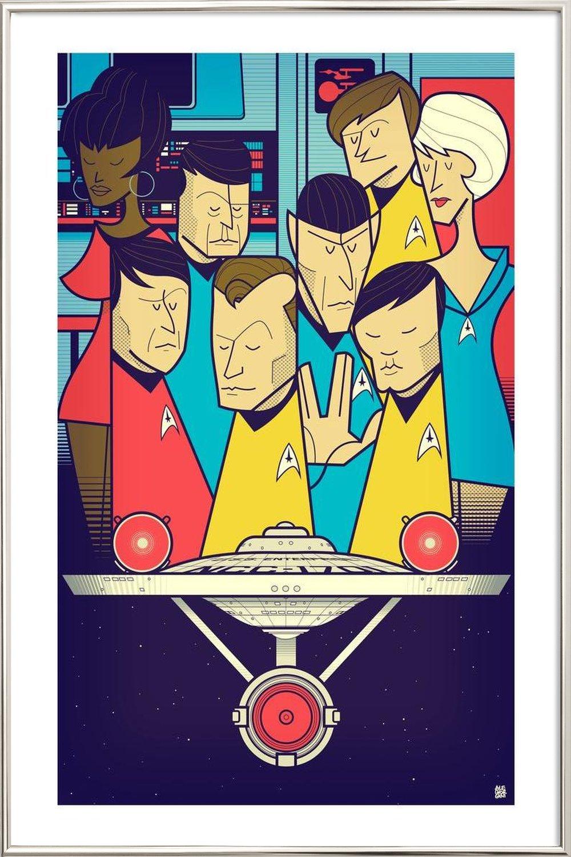 Enterprise als Poster im Alurahmen von Ale Giorgini | JUNIQE