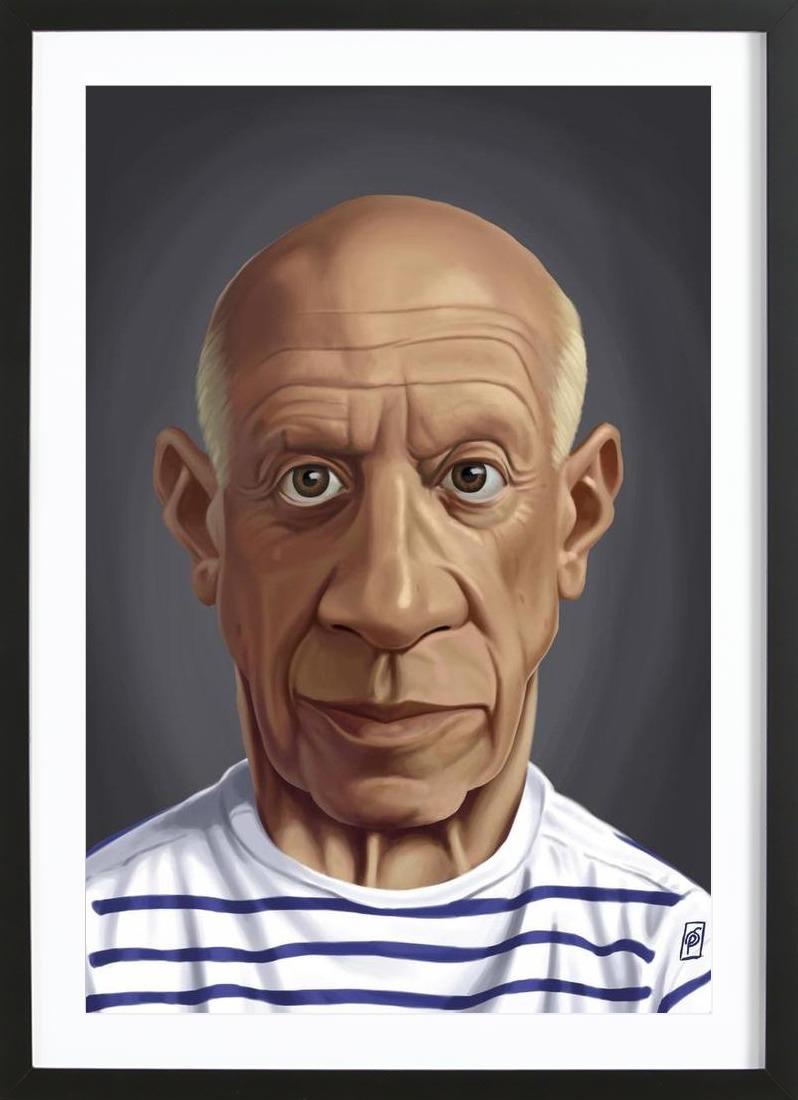 Pablo Picasso als Poster im Holzrahmen | JUNIQE