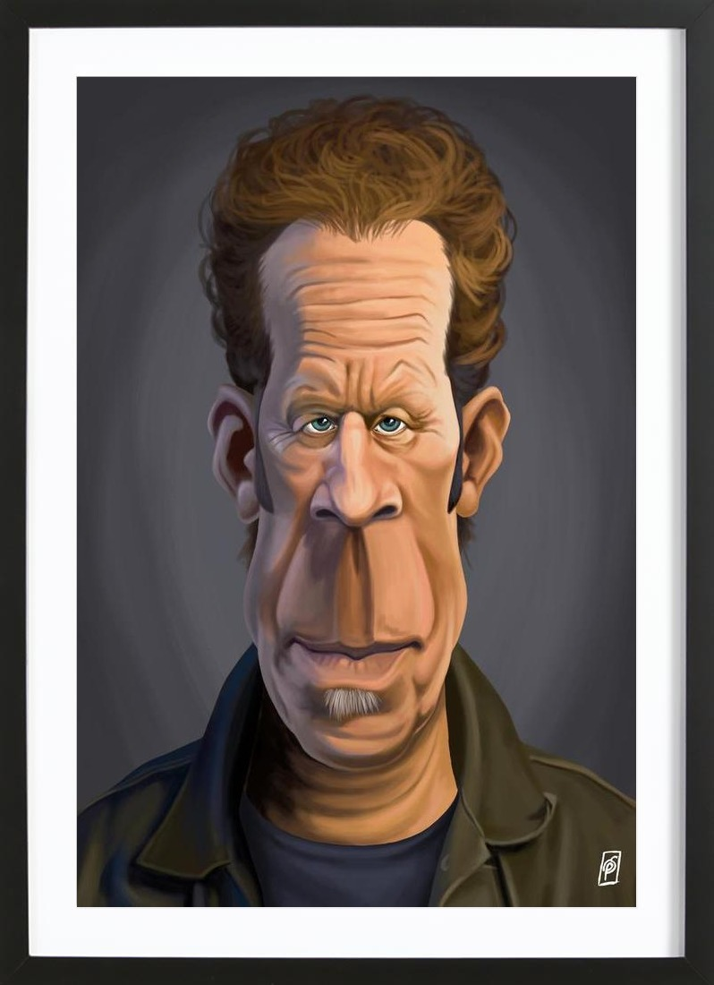 Tom Waits as Poster in Wooden Frame by Rob Snow | Creative | JUNIQE UK