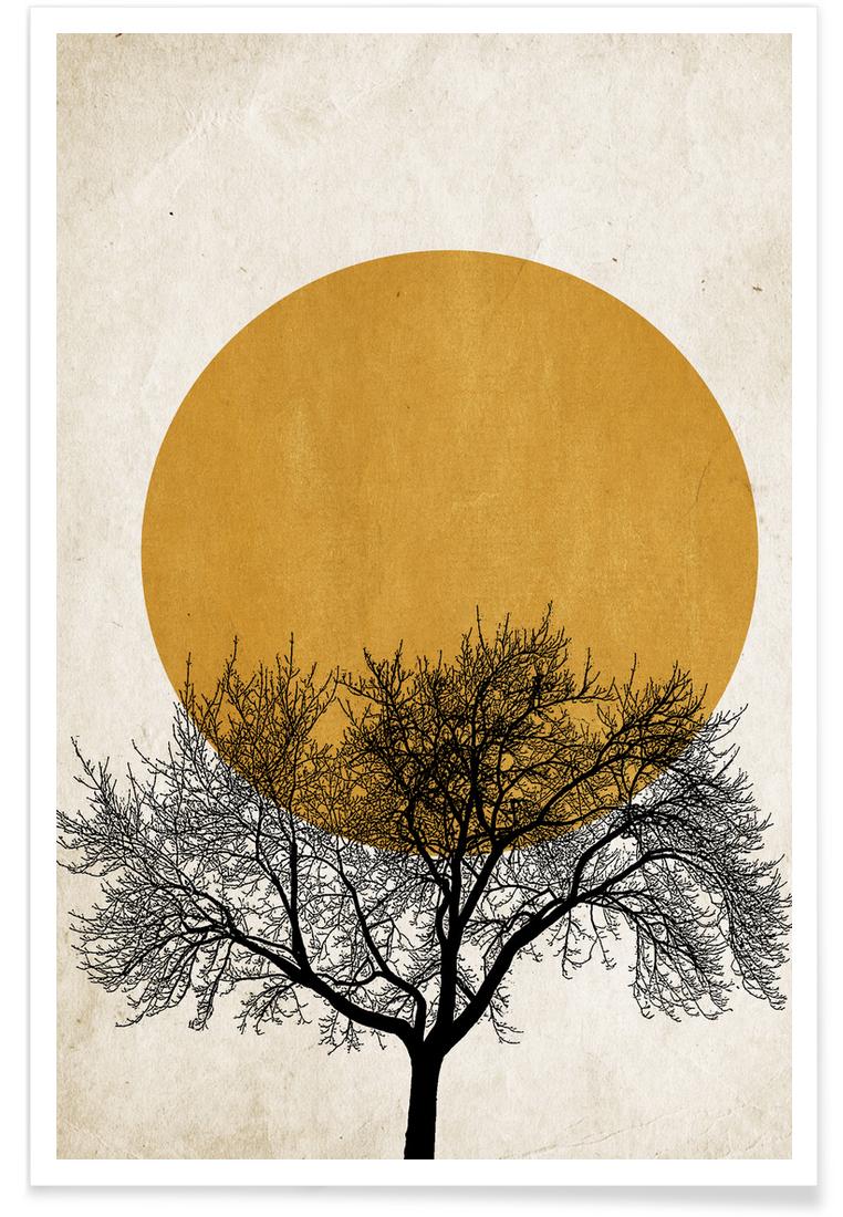 Wintermorgen - Premium Poster Portrait