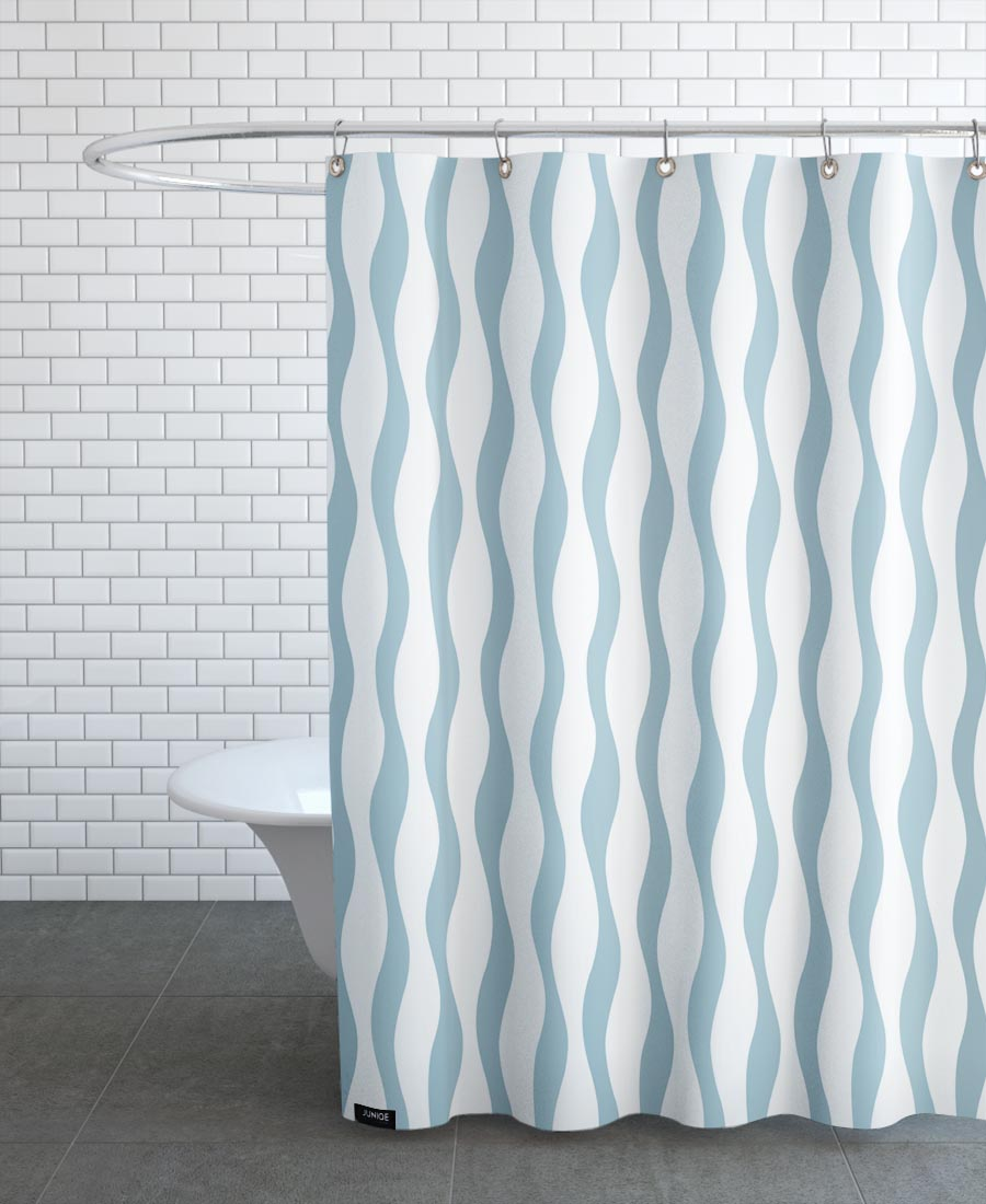 Wave As Shower Curtain By Lidia Blomgren