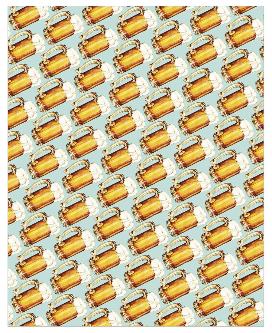 Beer Pattern Fleece Blanket