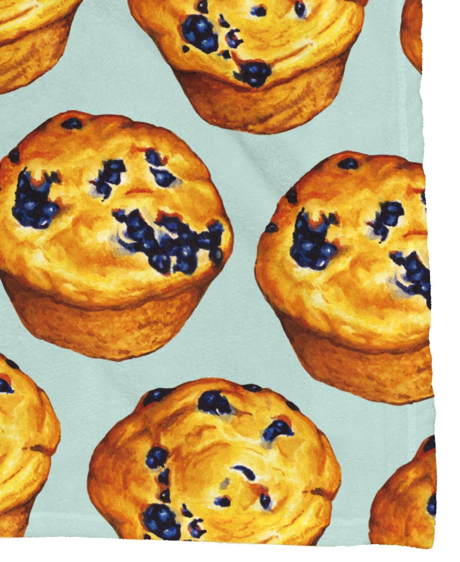 Blueberry Muffin Pattern Poster | JUNIQE
