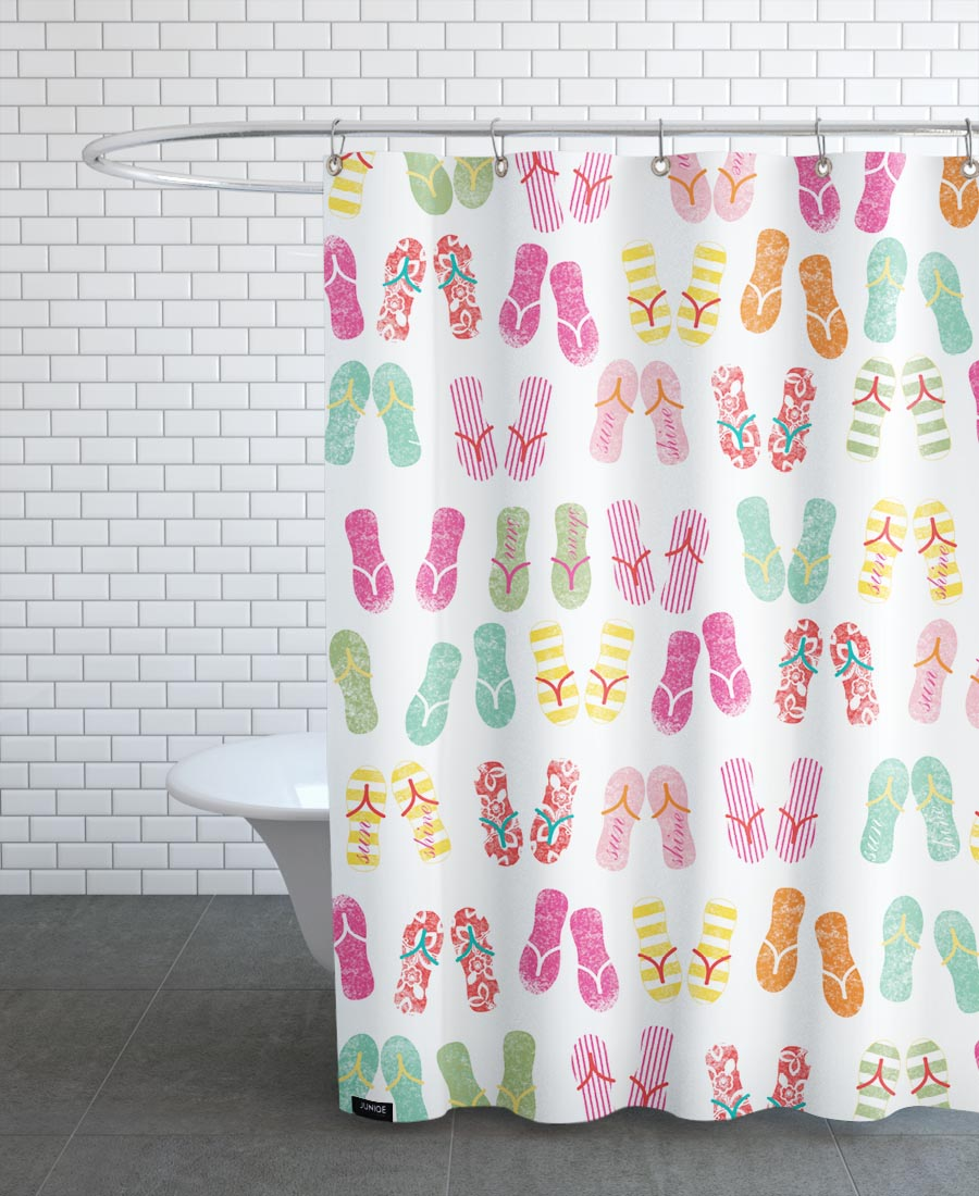 FlipFlops As Shower Curtain By Catherine Aguilar