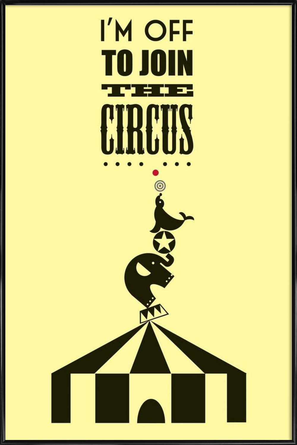 Circus as Poster in Standard Frame by Trabolt Design | JUNIQE