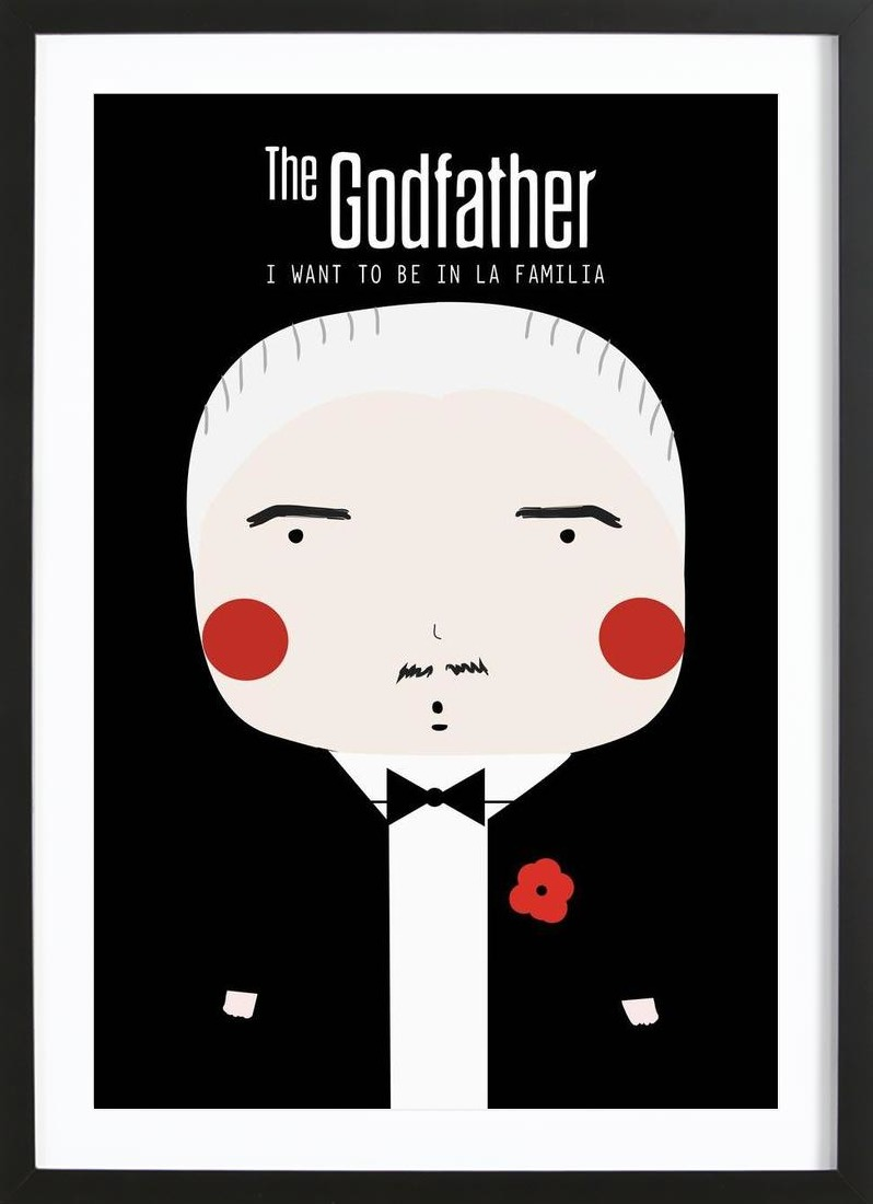 Little Godfather as Poster in Wooden Frame by Niñasilla | JUNIQE
