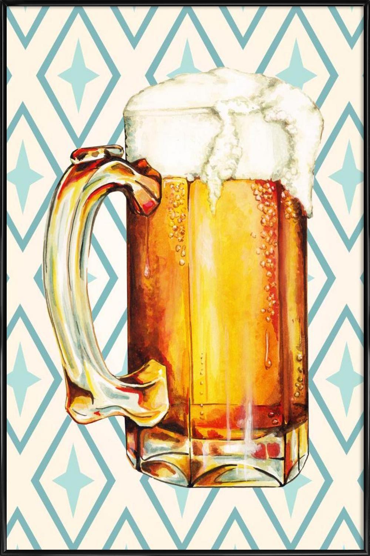 Beer als Poster im Holzrahmen von Kelly Gilleran | JUNIQE
