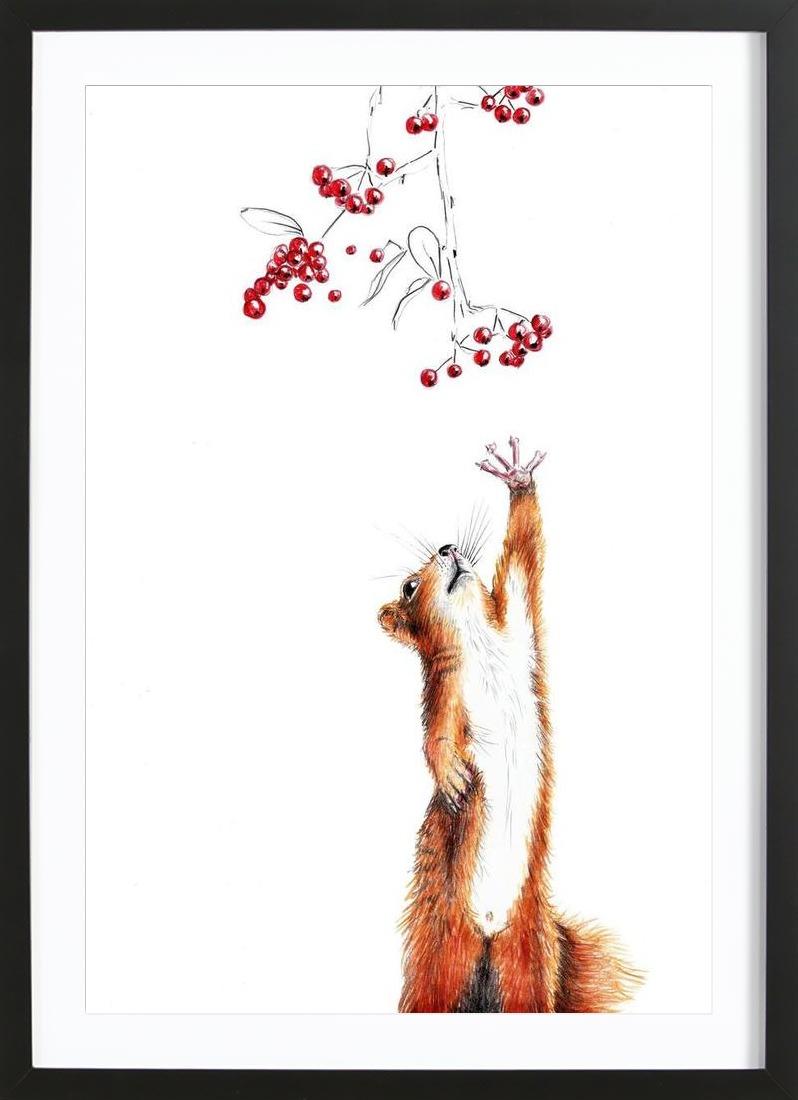 Squirrel - Framed Premium Poster Portrait